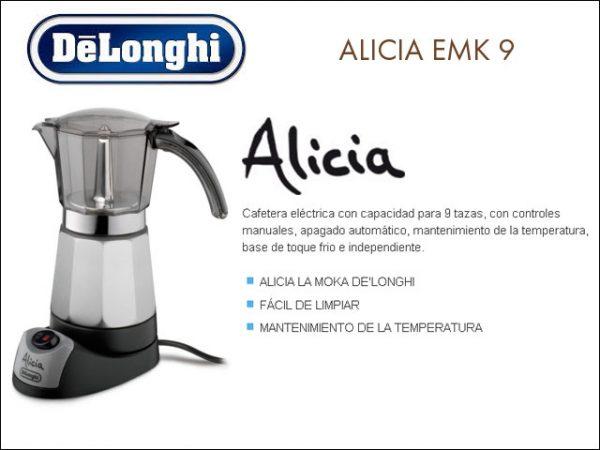 CAFETERA GOTEO DELONGHI MOKA EMK9 ALICIA 9 TAZAS