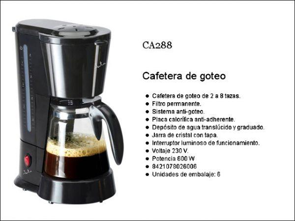 CAFETERA GOTEO JATA CA288N 2-8 TAZAS 650W