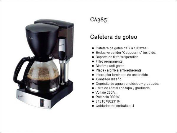 CAFETERA GOTEO JATA CA385 18T + BATIDOR CAPUCCINO