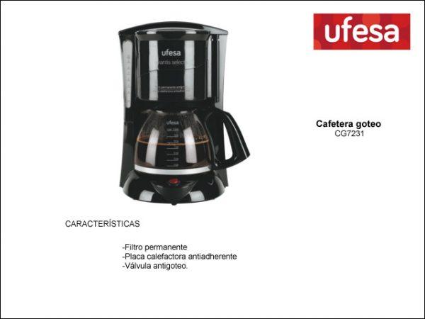 CAFETERA GOTEO UFESA CG7231 10 a 15T