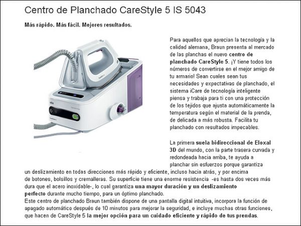 CENTRO-PLANCHADO-BRAUN-IS5043WH-2.400W-6-BARES