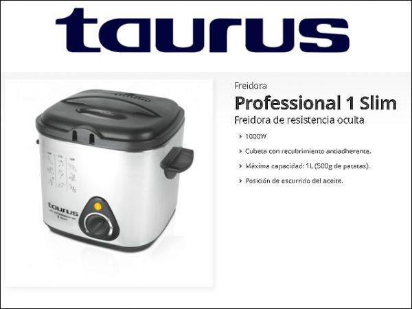 FREIDORA TAURUS1-SLIM-1.000W.-1L.-INOX