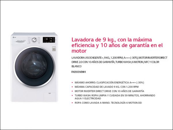 LAVAD.-LG-FH2U2VDN1-9-KG-1.200-RPM-A-30
