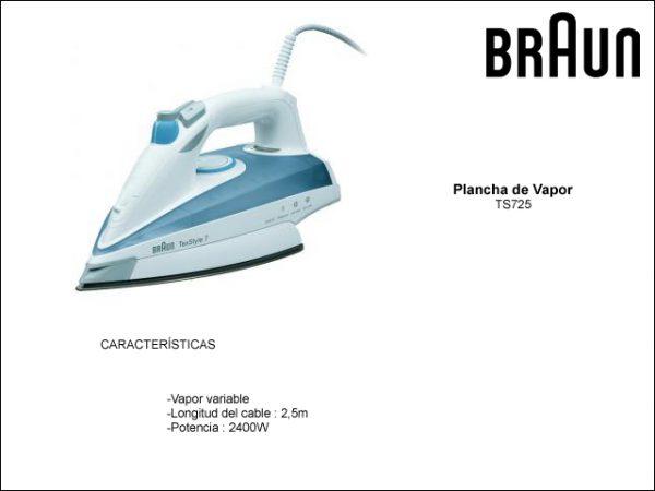 PLANCHA-VAPOR-BRAUN-TS725-TEXSTYLE7-GRIS-2400W