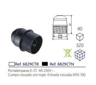PORTAMPARAS-E-27-4A-250V-CUERPO-ROSCADO-CON-TOPE