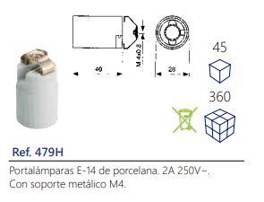 Portalámparas-E-14-de-porcelana.-2A-250V