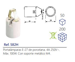 Portalámparas-E-27-de-porcelana.-4A-250V