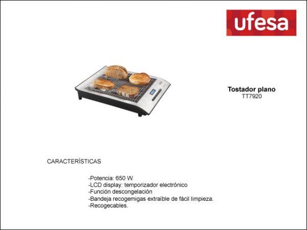 TOSTADOR-HORIZONTAL-UFESA-TT7920-INOX-LCD-DISPLAY