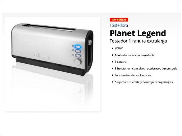 TOSTADOR-TAURUS-PLANET-LEGEND-INOX