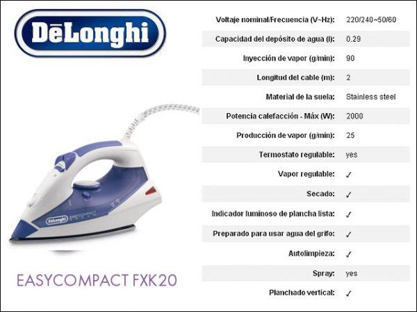 plancha-vapor-delonghi-fxk20-inox-2000w
